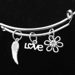 Protection & Love Silver Slide Bracelet